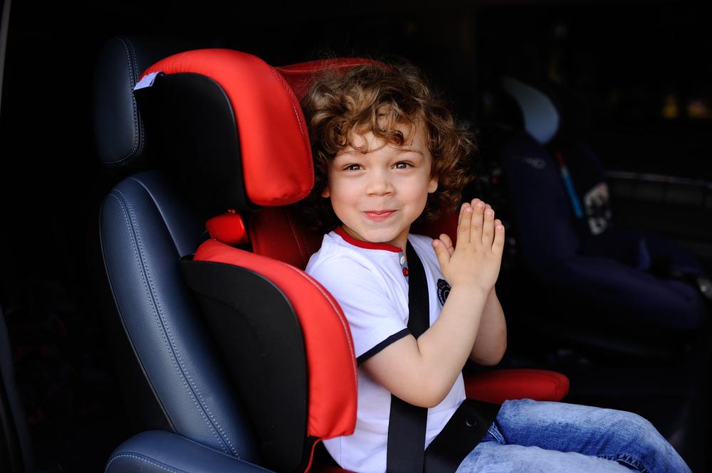 Boy in a car seat