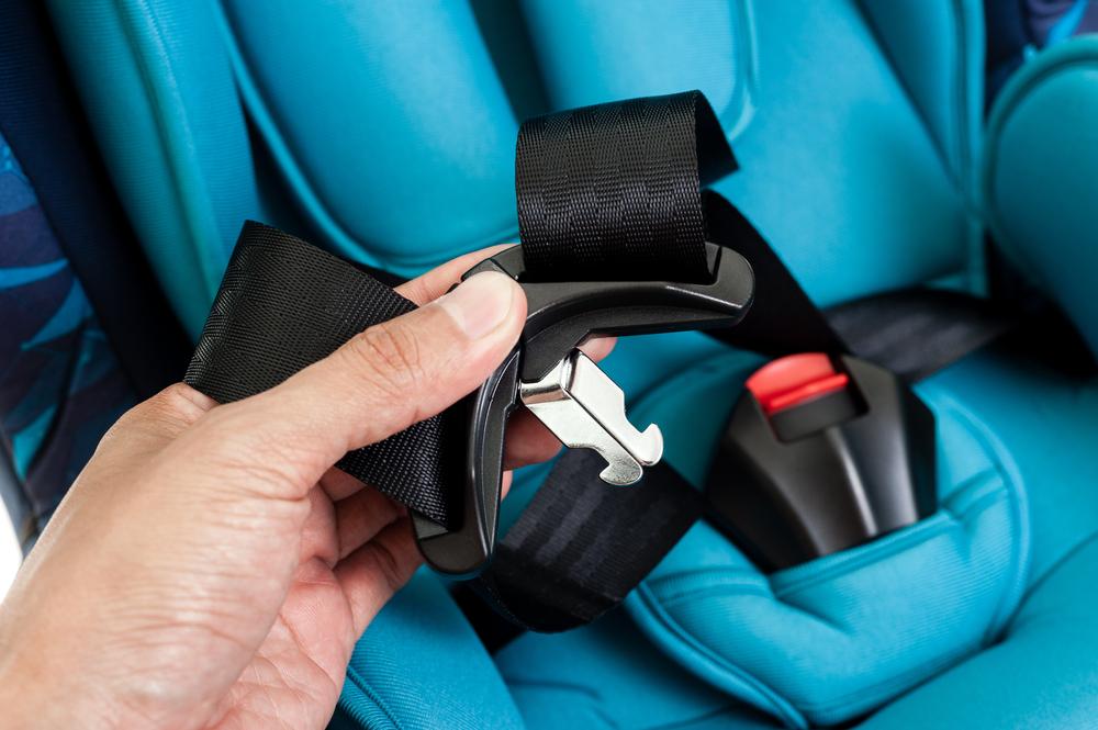 blue car seat