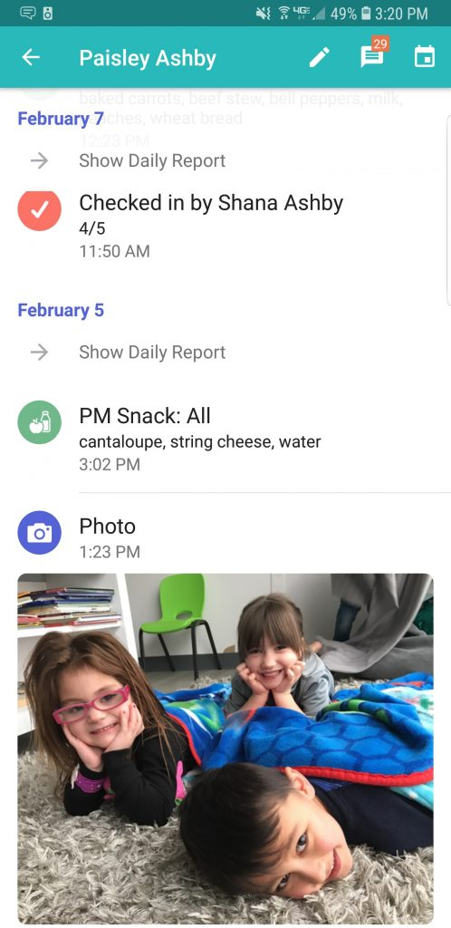 Brightwheel app screenshot
